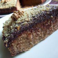 Ořechový moučník s polevou recept
