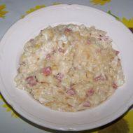Halušky s uzeninou, zelím a balkánským sýrem recept