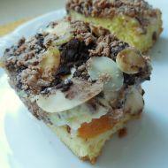 Piškotový dezert s pudinkovým krémem a mandlovými plátky recept ...