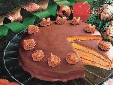 Nugátový skládaný dort