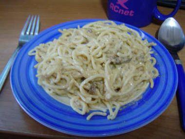 Recept Špagety s houbovým přelivem