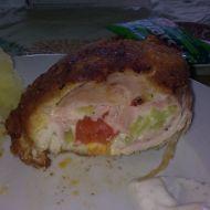 Kuřecí kapsa se šunkou a zeleninou recept
