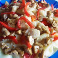 Teplý salát s pangasiusem recept