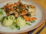 Zeleninová směs s máslovou krustičkou recept