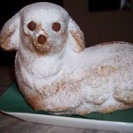 Velikonoční beránek z piškotového těsta recept
