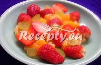 Barevný ovocný talíř recept  recepty pro děti