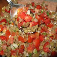 Čočkový salát s paprikou recept