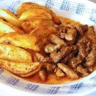 Čertovy špalíčky s pečenými brambory recept