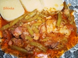 Vepřové maso s fazolkami, koriandrem, bazalkou a libečkem recept ...