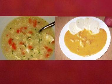 Oběd 37  Rychlá polévka a vepřové na smetaně