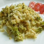 Květákovo-brokolicový mozeček se sýrem recept