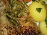 Kuřátko na fazolkách s kořením a smetanou recept