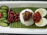 Kokosová rýže Nasi Lemak recept