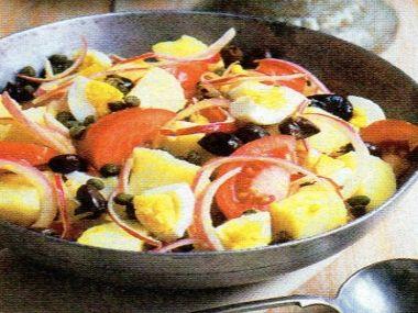 Marocký salát s olivami