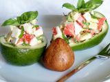 Salát z avokáda a krabích tyček recept