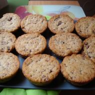 Banánovo-čokoládové muffiny recept