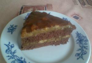 Čokoládový dort z jablek