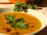 Dýňová polévka s uzeným recept