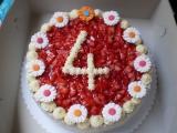 Jahodový dortík recept