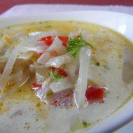 Zelná polévka s kedlubnou a paprikou recept