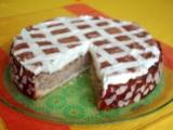 Jablkový dort s kakaovou mřížkou recept