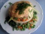 Treskový salát pod čapkou recept