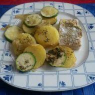 Rybí filé s bramborem a cuketou recept