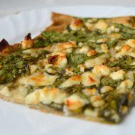 Moje špenátová pizza recept