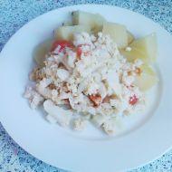 Květákový mozeček s cottage sýrem a rajčaty recept