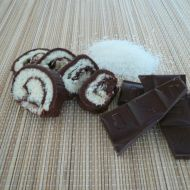 Čokoládová kokosová roláda recept