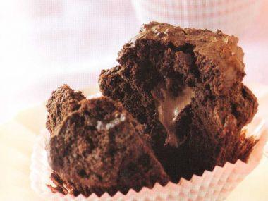 Čokoládové mufiny s překvapením