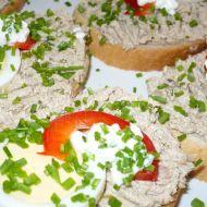 Obložené chlebíčky se sardinkovou pomazánkou recept