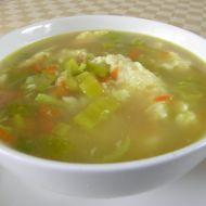 Drůbeží polévka s pórkem recept