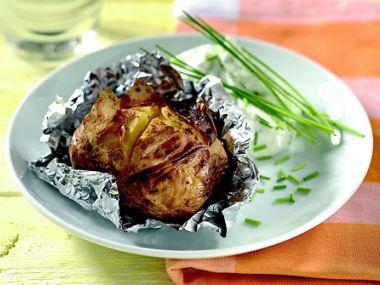 Recept Plněné brambory v alobalu