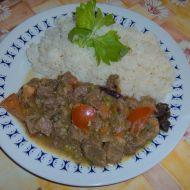 Směs z vepřového masa a zeleniny recept