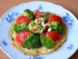 Tvarůžková omeleta se zeleninou a tofu recept