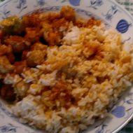 Sójové maso s dušenou rýží recept
