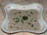 Česneková kroupová polévka recept