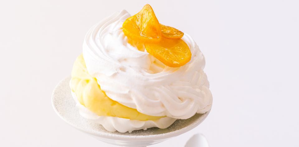 Sněhové pusinky s citronovou pěnou