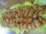 Gyrosové kuřecí kousky zabalené v anglické slanině recept ...