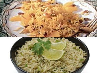 Rýže  Kari s pomerančem a Indická s limetkou