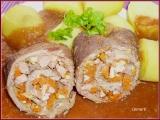 Hovězí rolády se zeleninou ve vinné omáčce recept