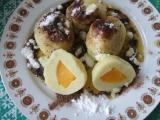 Bramborovo-tvarohové knedlíky s broskvemi recept