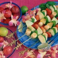 Vepřové medailonky s ovocnými špízy recept