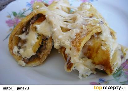 Zapečené omeletky se sýrem recept