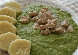 Špenát (mangold), vepřové maso, bramborový knedlík recept ...