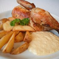 Pečené kuře s křenovo-smetanovou omáčkou recept