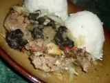 Vepřové biftečky (nudličky) zapečené s houbami a cibulí recept ...