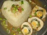 Kuřecí kopřivové závitky s parmazánem a křepelčími vejci recept ...