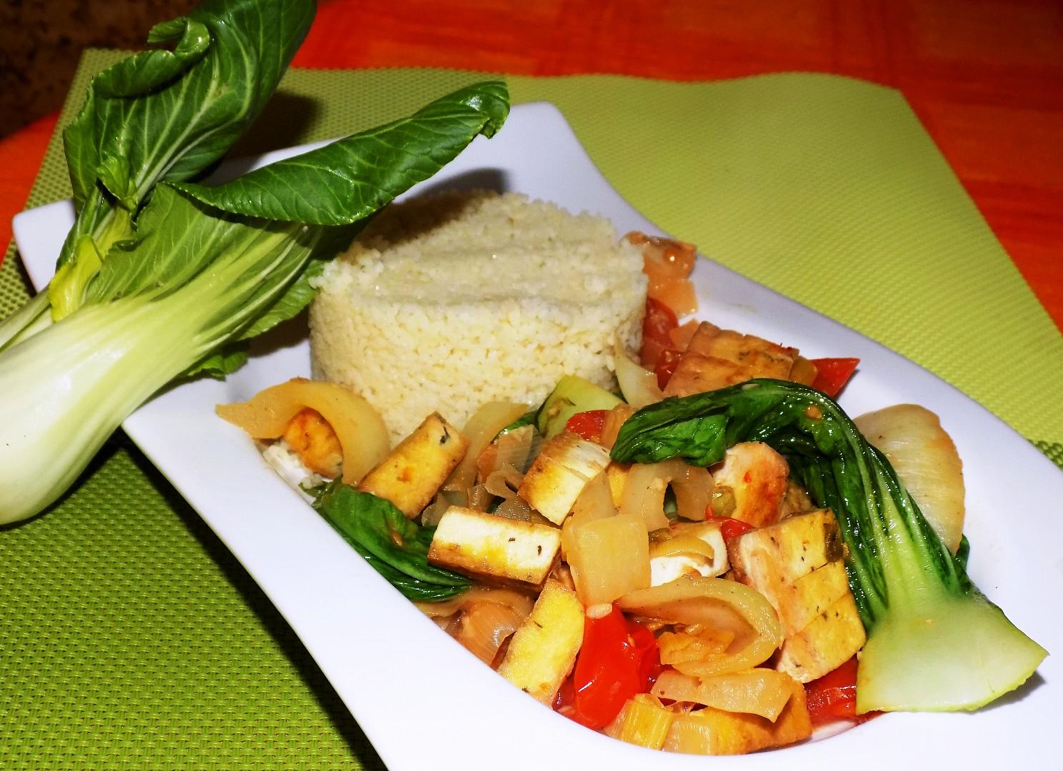 Kuskus se zeleninou a tofu recept